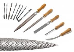 Imagen Escofinas y codilllos picados a mano para madera