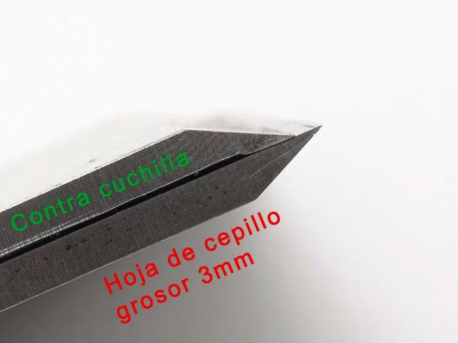 Contrahiero y cuchilla de cepillo