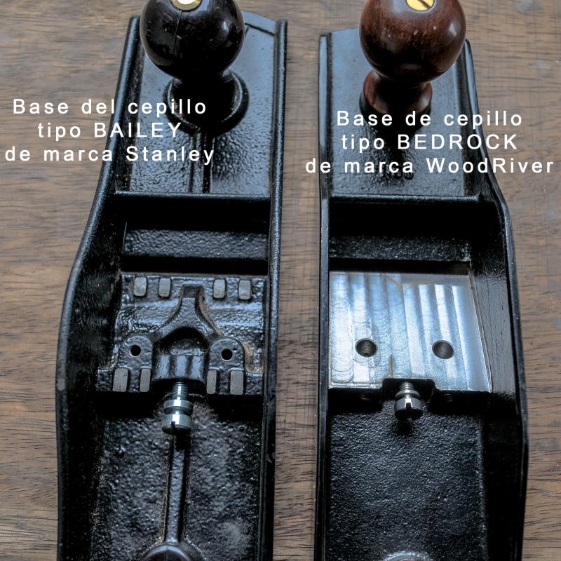 Comparacion de base de cepillo BEDROCK de marca WoodRiver con Bayley Stanley