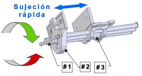 Dibujo tecnico sistema de sujecion rapida quick release de prensa de ebanista