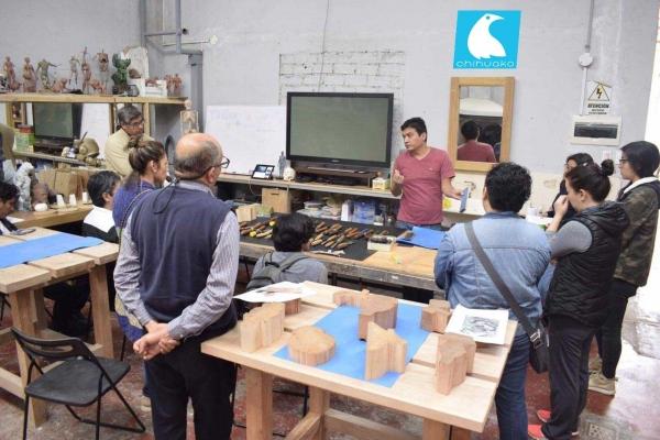Introduccion al Chihuaco taller Tallado en Madera
